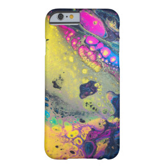 "Capa Barely There Para iPhone 6 ""Sujos acrílicos coloridos selvagens derramam """