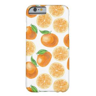 Capa Barely There Para iPhone 6 Tangerinas da aguarela