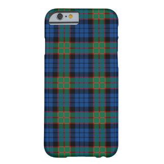 Capa Barely There Para iPhone 6 Tartan azul do clã de Fletcher e verde brilhante