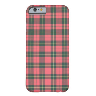 Capa Barely There Para iPhone 6 Tartan cor-de-rosa e verde do clã de Wallace da