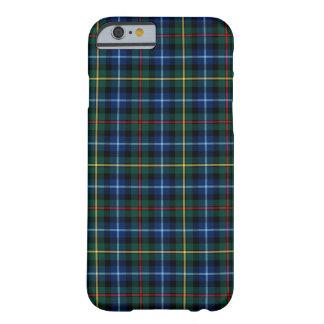 Capa Barely There Para iPhone 6 Tartan dos azuis marinhos de Smith do clã, o verde