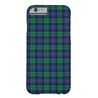 Capa Barely There Para iPhone 6 Tartan dos azuis marinhos e do verde do clã de