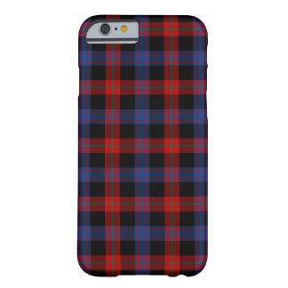 Capa Barely There Para iPhone 6 Tartan dos azuis marinhos e do vermelho do clã de