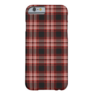 Capa Barely There Para iPhone 6 Tartan vermelho e preto do distrito de Tweedside
