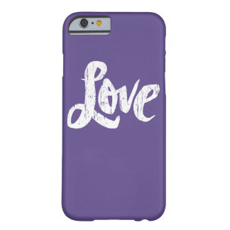 Capa Barely There Para iPhone 6 Telefone cor-de-rosa chique dos namorados de