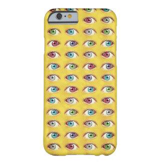 Capa Barely There Para iPhone 6 Telefone do olho no fundo de intervalo mínimo