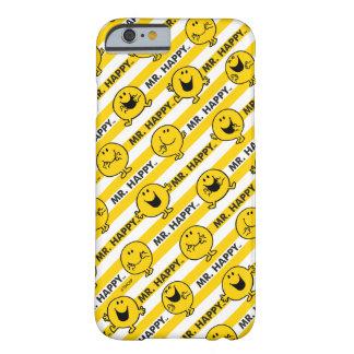 Capa Barely There Para iPhone 6 Teste padrão amarelo das listras do Sr. Feliz |