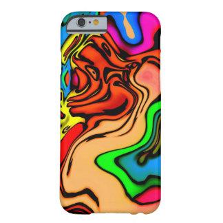 Capa Barely There Para iPhone 6 Teste padrão colorido abstrato do redemoinho