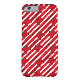Capa Barely There Para iPhone 6 Teste padrão das listras do vermelho do Sr. Forte