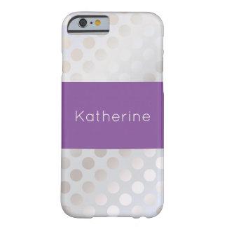 Capa Barely There Para iPhone 6 Teste padrão de bolinhas de prata do falso à moda