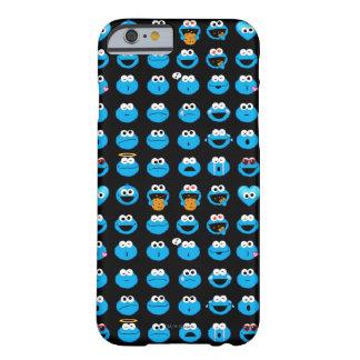 Capa Barely There Para iPhone 6 Teste padrão de Emoji do monstro do biscoito