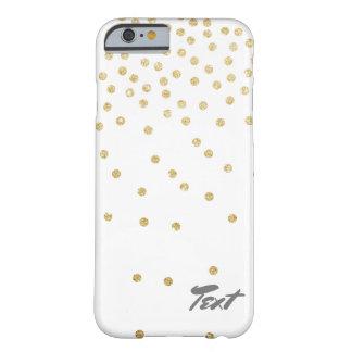Capa Barely There Para iPhone 6 teste padrão de pontos claro elegante dos confetes