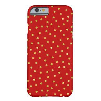 Capa Barely There Para iPhone 6 Teste padrão de pontos elegante dos confetes da