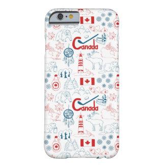 Capa Barely There Para iPhone 6 Teste padrão dos símbolos de Canadá |