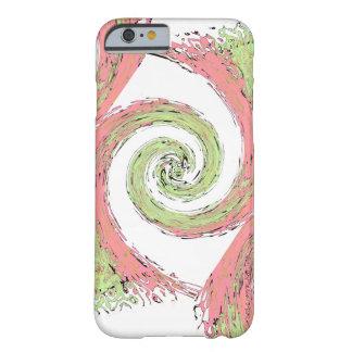 Capa Barely There Para iPhone 6 Teste padrão espiral abstrato do rosa e do verde