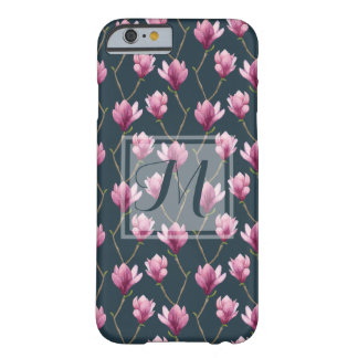 Capa Barely There Para iPhone 6 Teste padrão floral da aguarela da magnólia