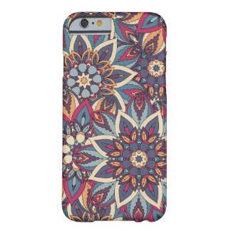 Capa Barely There Para iPhone 6 Teste padrão floral étnico abstrato colorido da