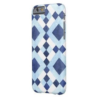 Capa Barely There Para iPhone 6 Teste padrão geométrico azul