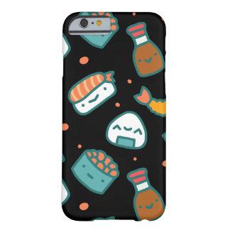Capa Barely There Para iPhone 6 Teste padrão sem emenda feliz bonito do sushi no
