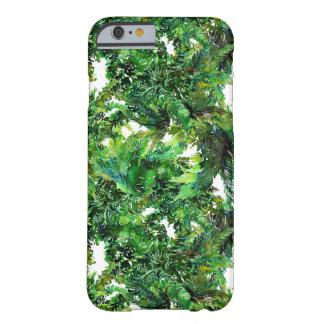 Capa Barely There Para iPhone 6 Teste padrão verde da queda da floresta da
