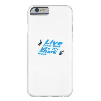 Capa Barely There Para iPhone 6 Tubarões da semana do tubarão engraçados