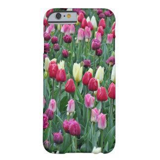 Capa Barely There Para iPhone 6 Tulipas coloridas do primavera