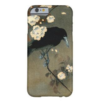Capa Barely There Para iPhone 6 Um corvo e uma flor pelo vintage de Ohara Koson