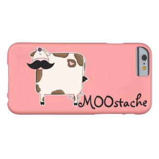Capa Barely There Para iPhone 6 vaca engraçada do bigode de MOOstache