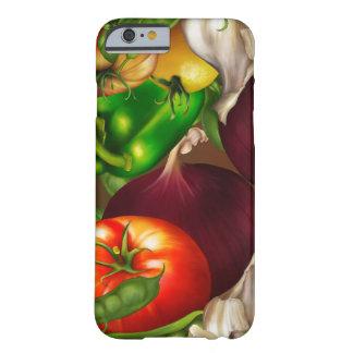 Capa Barely There Para iPhone 6 Vegetais e alimentos frescos naturais orgânicos