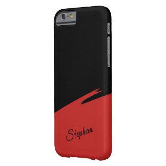 Capa Barely There Para iPhone 6 Vermelho abstrato mínimo/preto personalizado