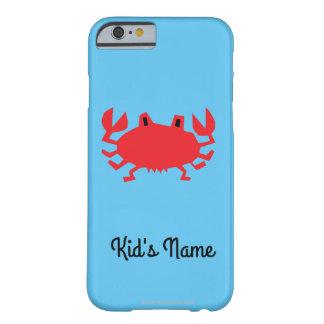 Capa Barely There Para iPhone 6 Vermelho do caranguejo do mar