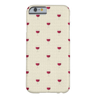 Capa Barely There Para iPhone 6 Vidro do patten do vinho tinto