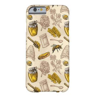 Capa Barely There Para iPhone 6 Vintage amarelo dourado da colmeia da abelha do