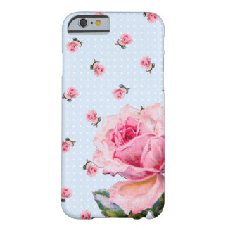 Capa Barely There Para iPhone 6 Vintage floral e pontos