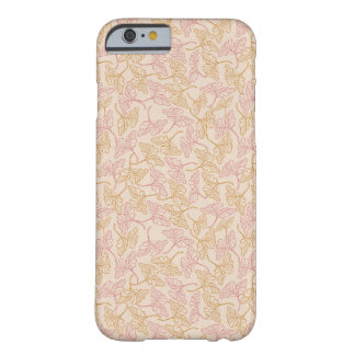 Capa Barely There Para iPhone 6 Vintage floral pattern with yellow and pink leaves