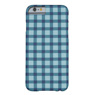 Capa Barely There Para iPhone 6 Xadrez/azul Checkered