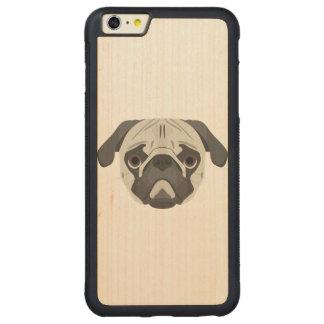 Capa Bumper Para iPhone 6 Plus De Bordo, Carved A ilustração persegue o Pug da cara