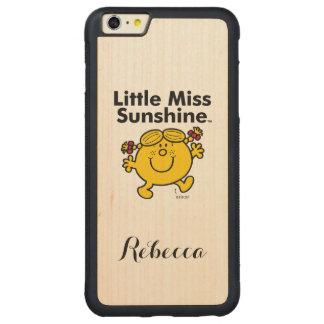 Capa Bumper Para iPhone 6 Plus De Bordo, Carved A senhorita pequena pequena Luz do sol da