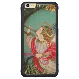 Capa Bumper Para iPhone 6 Plus De Bordo, Carved Anjo do Natal - arte do Natal - decorações do anjo