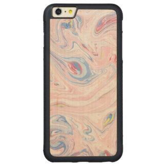 Capa Bumper Para iPhone 6 Plus De Bordo, Carved Arte moderna elegante Pastel do mármore luxuoso do
