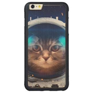 Capa Bumper Para iPhone 6 Plus De Bordo, Carved Astronauta do gato - gatos no espaço - espaço do