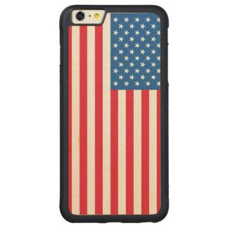 Capa Bumper Para iPhone 6 Plus De Bordo, Carved Bandeira dos Estados Unidos da bandeira dos EUA
