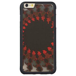 Capa Bumper Para iPhone 6 Plus De Bordo, Carved Branco preto vermelho do Fractal