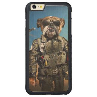 Capa Bumper Para iPhone 6 Plus De Bordo, Carved Cão piloto, buldogue engraçado, buldogue