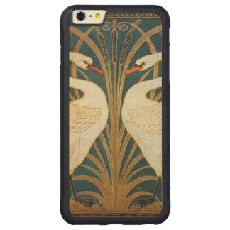 Capa Bumper Para iPhone 6 Plus De Bordo, Carved Cisne do guindaste de Walter, precipitação e arte