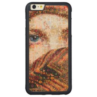 Capa Bumper Para iPhone 6 Plus De Bordo, Carved Colagem-olho-menina beduína do menina-olho do