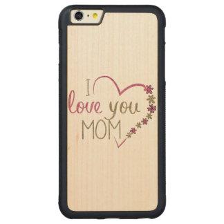 Capa Bumper Para iPhone 6 Plus De Bordo, Carved Coração do dia das mães da mamã do amor