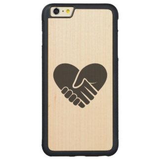 Capa Bumper Para iPhone 6 Plus De Bordo, Carved Coração preto conectado amor