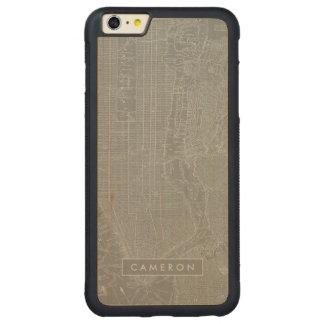 Capa Bumper Para iPhone 6 Plus De Bordo, Carved Esboço do mapa da Nova Iorque