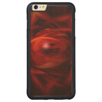 Capa Bumper Para iPhone 6 Plus De Bordo, Carved Esfera do fogo vermelho